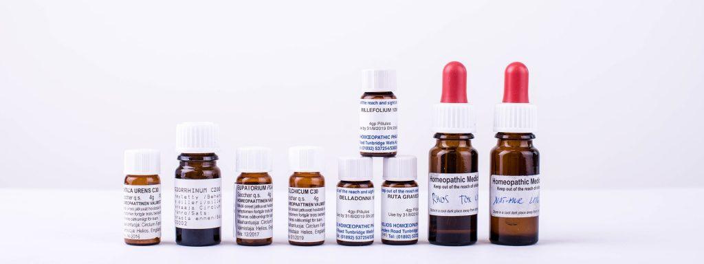 homeopathy bottles